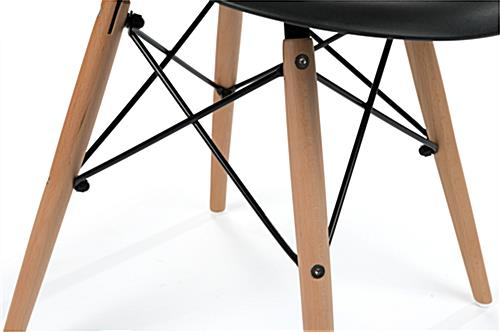 Eiffel-Style Molded Plastic Wood Base Chair