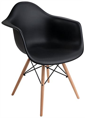 Iconic Molded Plastic Wood Base Chair