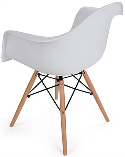 High Back Wood Base Plastic Side Chair