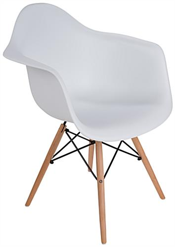 Eames-Style Wood Base Plastic Side Chair