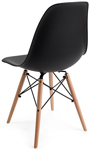 Molded Plastic Modern Chair with High Back