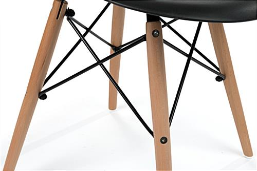 Molded Plastic Modern Chair with Wood Legs