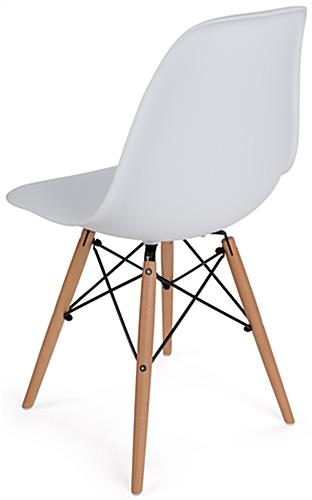 Molded Plastic Side Chair with High Back
