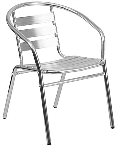 Aluminum indoor/outdoor stack chair in modern style