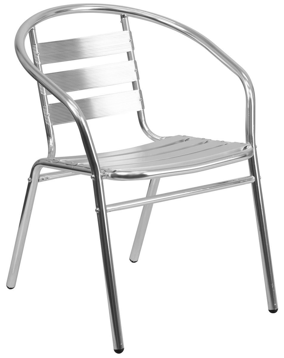 Magnificent Flash Furniture 17 Seat Height Metal Indoor Outdoor Chair Silver Inzonedesignstudio Interior Chair Design Inzonedesignstudiocom