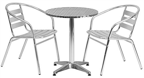 Aluminum Outdoor Bistro Set 3 Piece Set