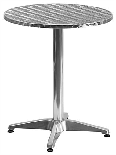 Aluminum and rattan indoor/outdoor cafe set with round table