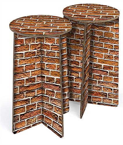 corrugated cardboard trade show stools for events
