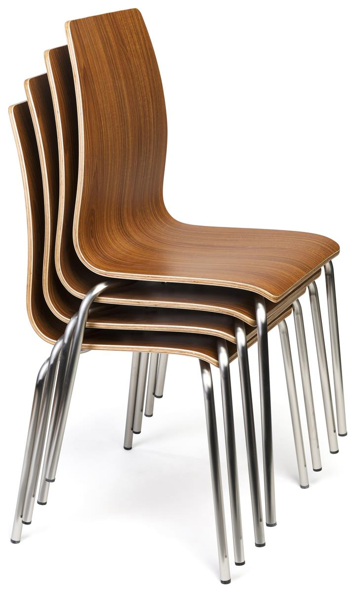 Dining Height Lunchroom Chairs 16 5 H Stackable