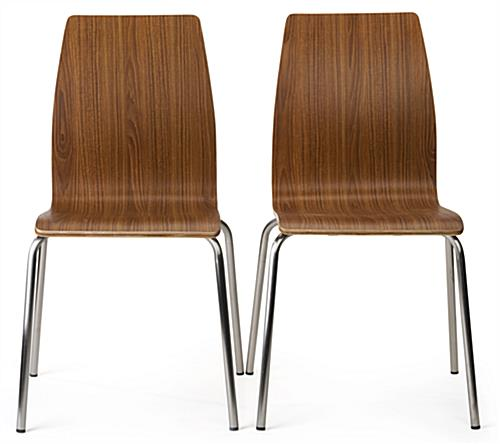 Dining height lunchroom chairs set of two