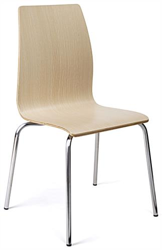 ... Dining Height Breakroom Chairs With Modern Bent Wood Design ...