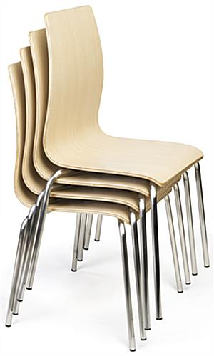 Dining height breakroom chairs stacking