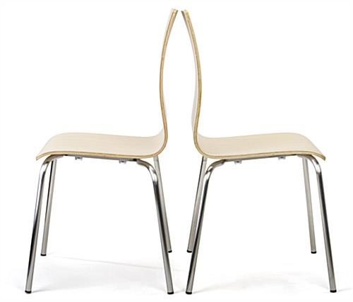 Dining height breakroom chairs sold in set of two