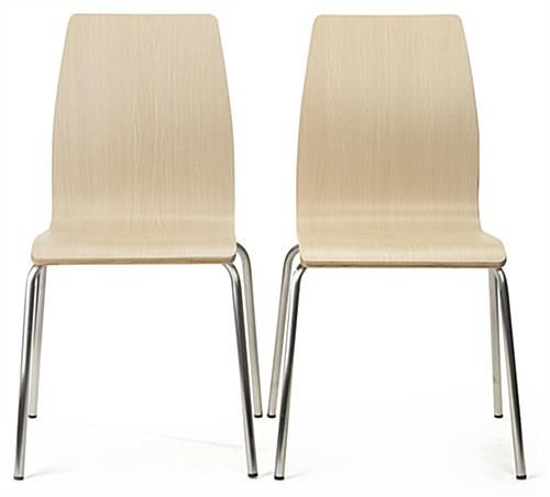 Dining height breakroom chairs set of 2