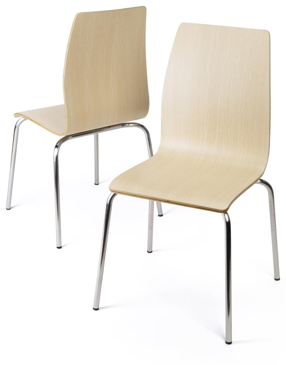 Dining Height Breakroom Chairs 16 5 H Stackable