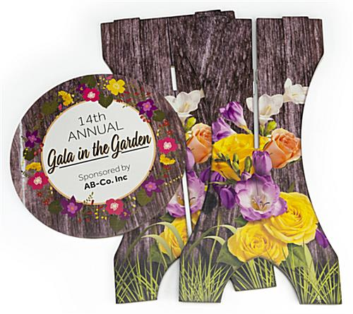 Knock down design branded cardboard furniture bar table