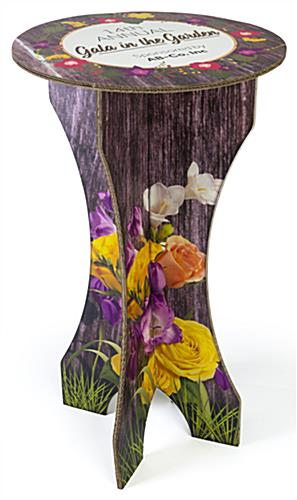 Full color branded cardboard furniture bar table