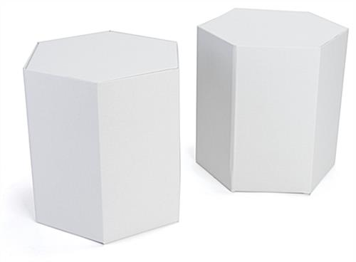 Cardboard hexagon stools in set of 2
