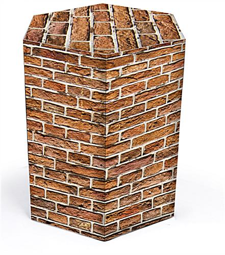 corrugated hexagon pedestal cardboard table for trade shows