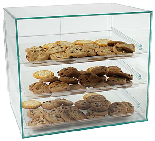 Cookie display case with mahogany base amp canopy