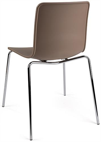 Set of 2 Modern Plastic Chairs with High Backs