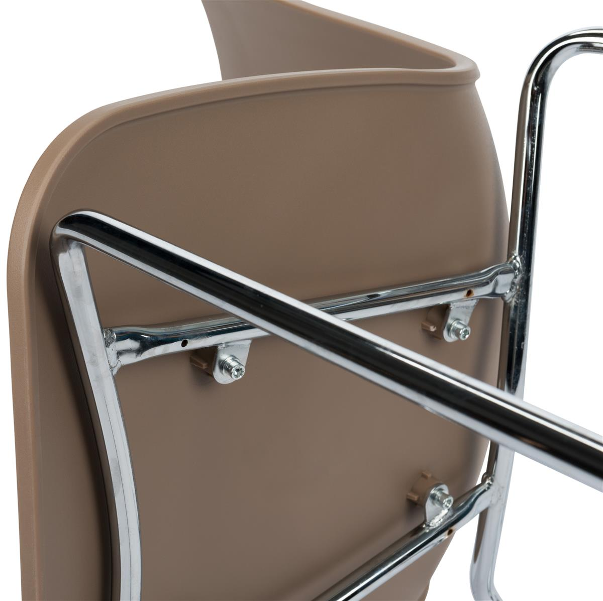 Modern plastic chairs - Set Of 2 Modern Plastic Chairs With Included Hardware