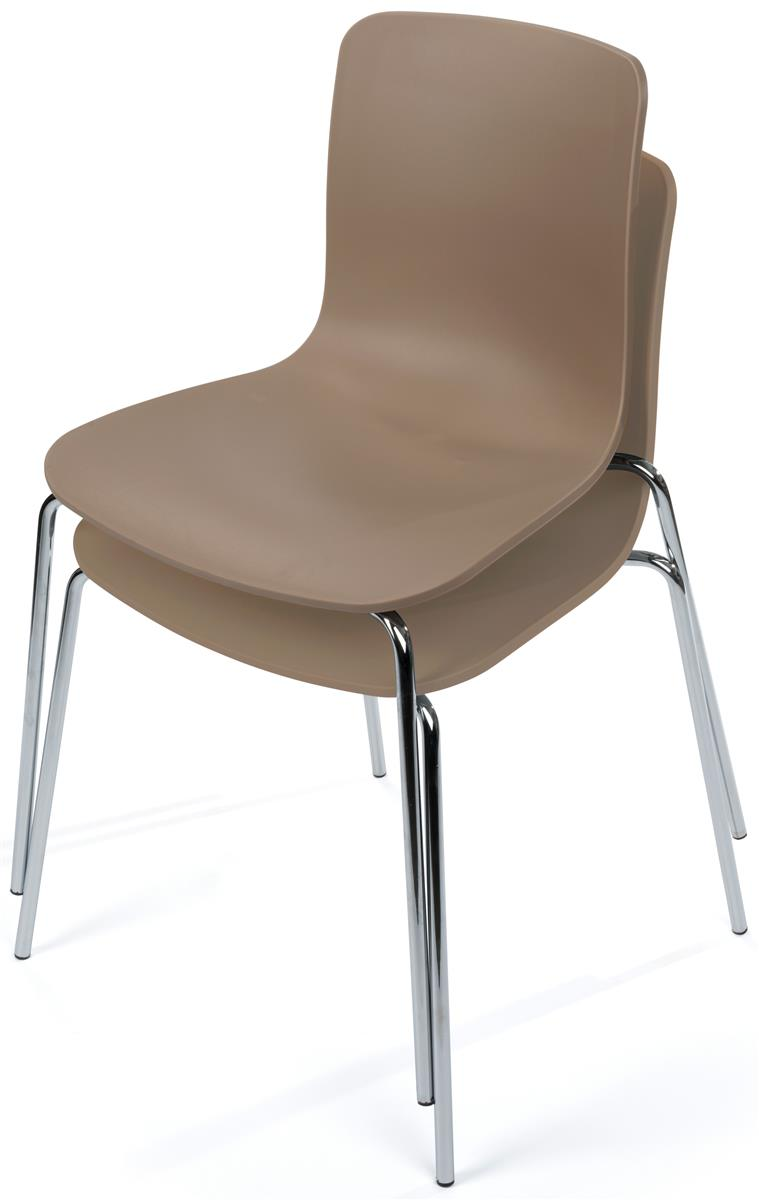 Plastic chair metal legs - Stackable Set Of 2 Modern Plastic Chairs