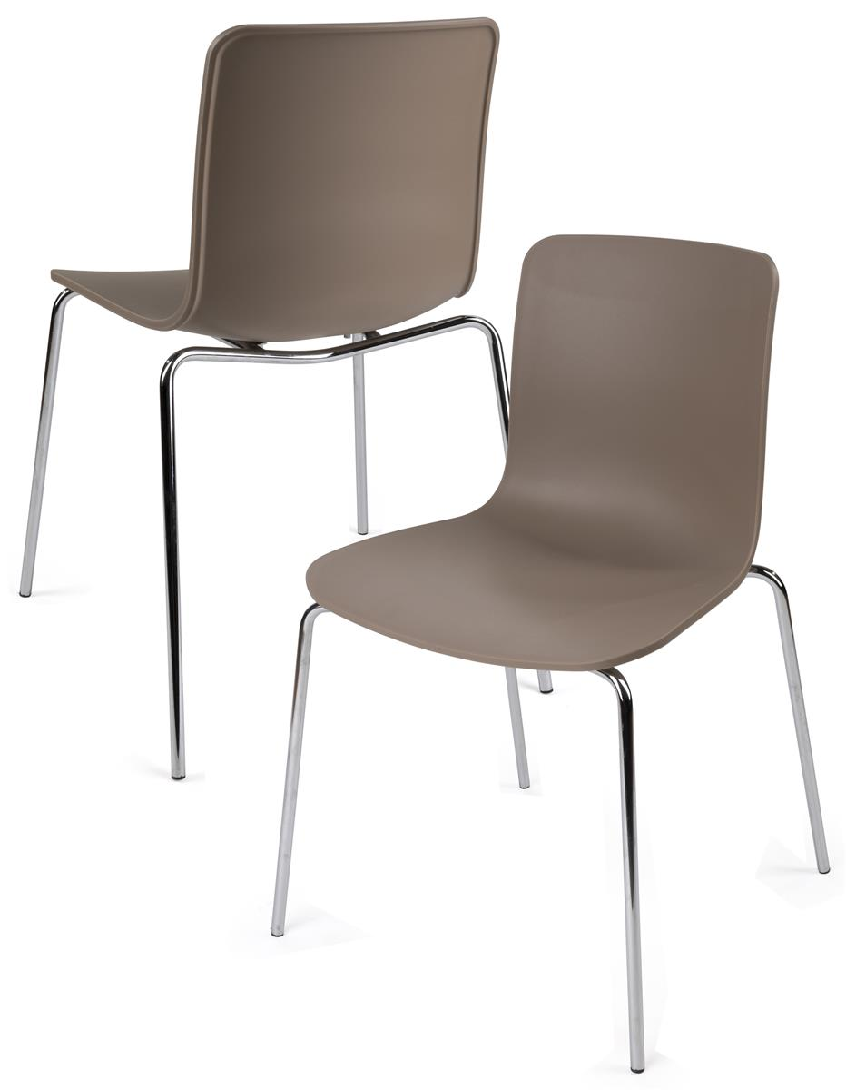 Plastic chair metal legs - Set Of 2 Modern Plastic Chairs For Commercial Use