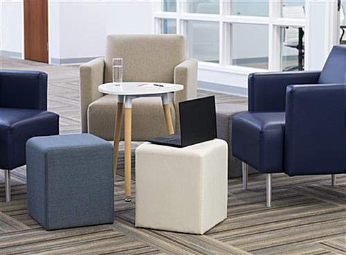 Soft seating cube in office setting