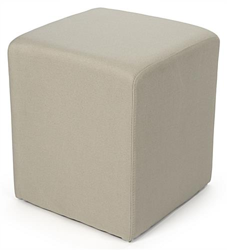 Soft seating cube for waiting rooms and educational facilities