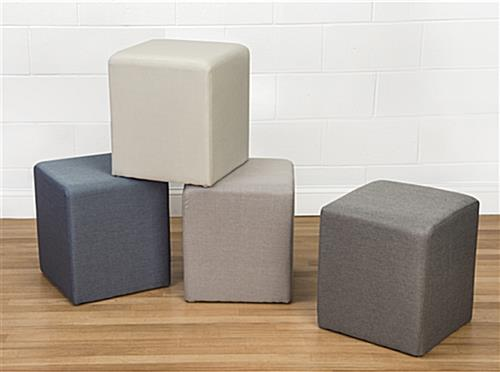 Foam cube ottoman can be grouped together more furniture options