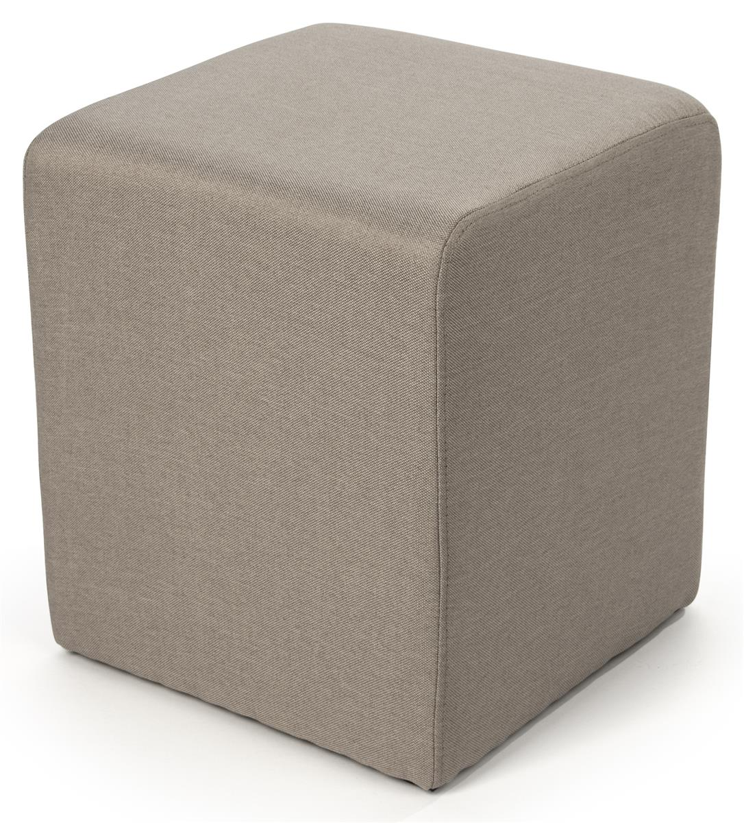 Foam Cube Ottoman 15 Square Upholstered Stool