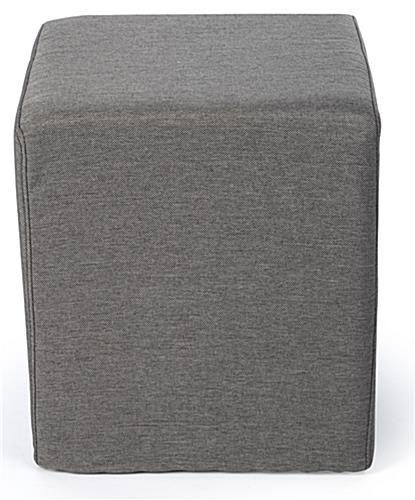 Cube ottoman seating with wood and foam construction