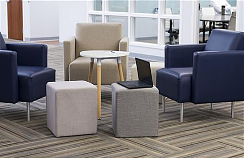 Cube ottoman seating in office environment