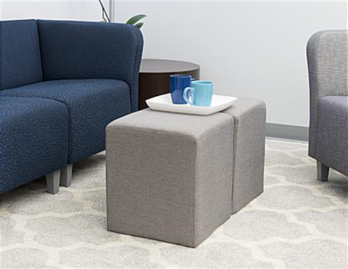 Cube ottoman seating in Office Setting