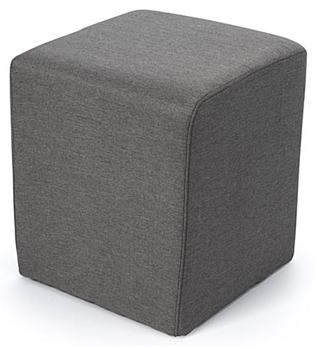 Cube ottoman seating with high quality gray uphostery