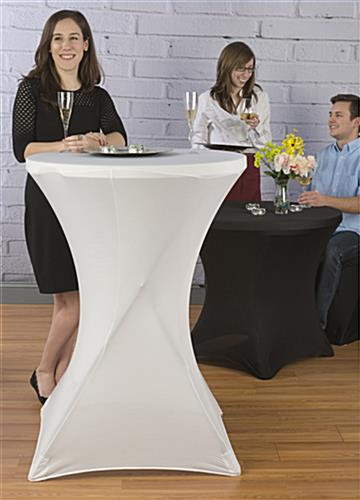 Table with Stretch Cover at Bar Height