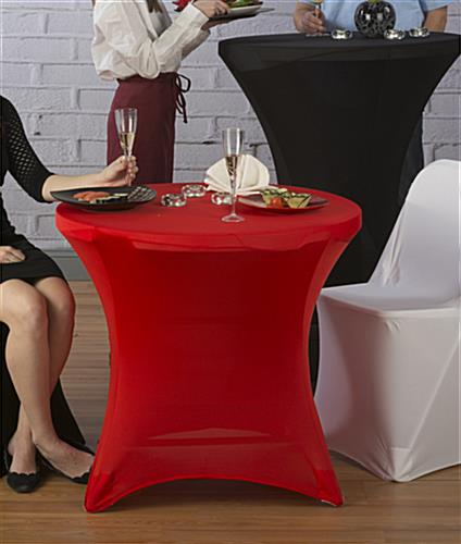 Cafe Table with Spandex Cover, Great for Restaurants