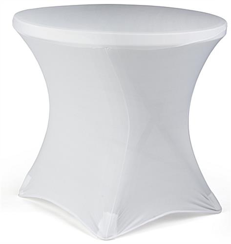 Cafe Table with Spandex Cover is Machine Washable