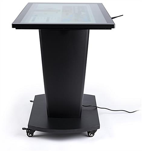 Steel interactive touch table base with powder coated finish