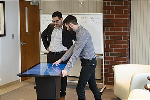Interactive touch table for education and business