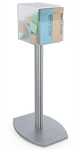 Pedestal suggestion box stand with lock and large top slot