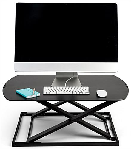 Standing desk converter riser with adjustable height