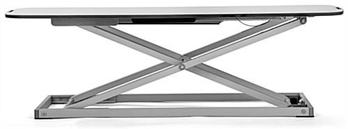 Folding sit stand laptop desk with no assembly required