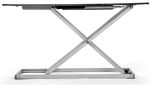 Folding sit stand laptop desk for employees of all heights