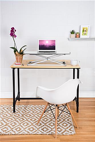 Folding sit stand laptop desk ideal for home and commercial offices