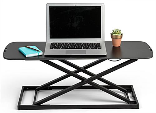 Folding sit stand laptop workstation ideal for portable computers