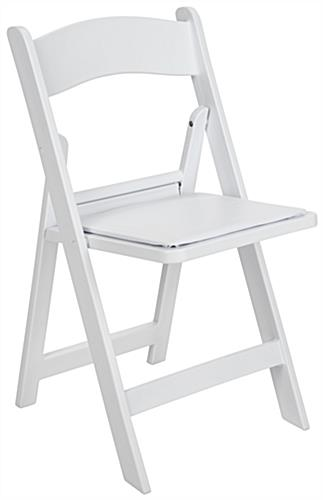 Heavy Duty Folding Plastic Chair with High Weight Limit Support