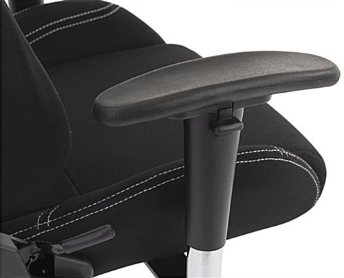 PC gaming chair with double stitch design and adjustable armrest