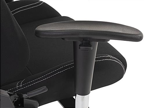 PC gaming chair with 2-directional nylon armrests